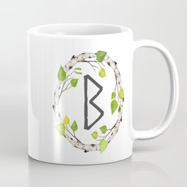 Berkana Elder Futhark Rune | Norse Mythology Coffee Mug