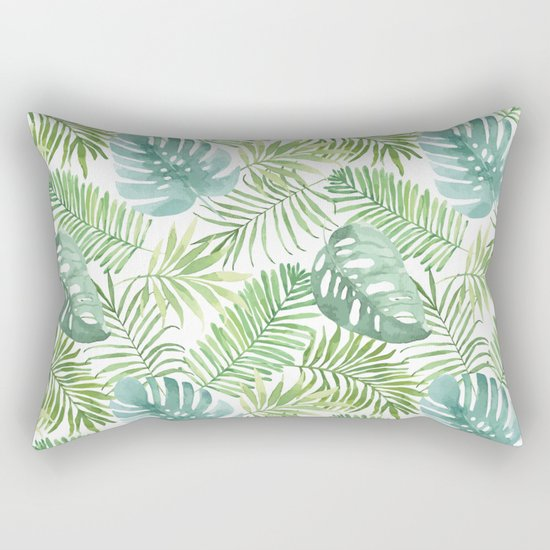 Tropical Branches Pattern 06 Rectangular Pillow