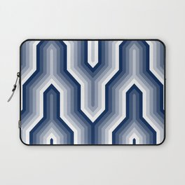 Retro Chevron Blue Laptop Sleeve