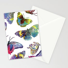 Butterfly Obsession in Blues Stationery Cards