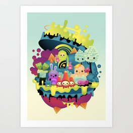 little people Art Print