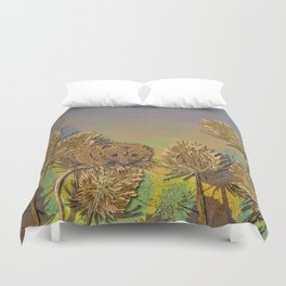 Harvest Mouse and Teasels Duvet Cover