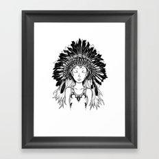 Native American Girl Framed Art Print