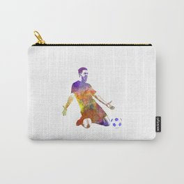 man soccer football player 13 Carry-All Pouch