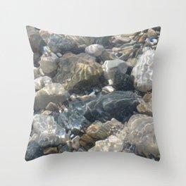 Rock Bottom Beach 1 Throw Pillow
