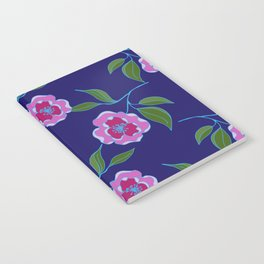 Peony Floral Floating Pattern Notebook