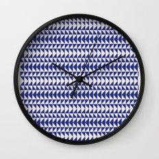 Blue Folk Art Wall Clock