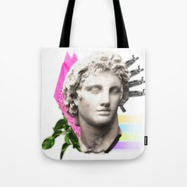 Vaporwave Roman Bust Tote Bag