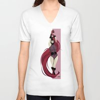 medusa V-neck T-shirts featuring Medusa by Andrew Formosa