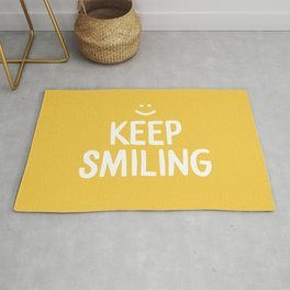 Keep Smiling Quote - Yellow Rug