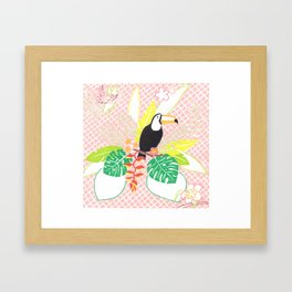 pink tropical Framed Art Print