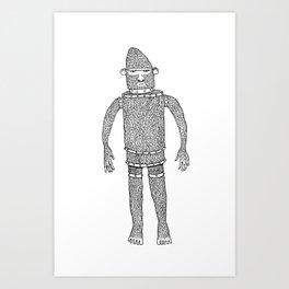 Sasquatch Robot Hybrid Art Print