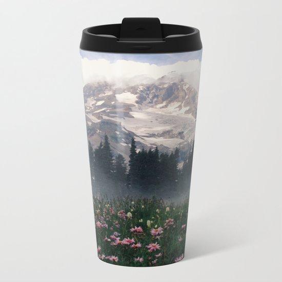 Mt Rainier Metal Travel Mug