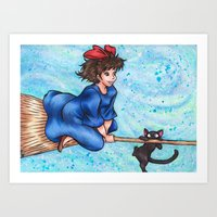kiki Art Prints featuring Kiki by Kimberly Castello