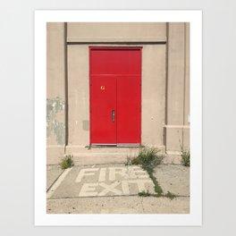 Fire Exit Art Print