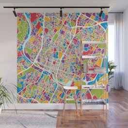 Austin Texas City Map Wall Mural