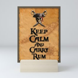 Keep Calm And Carry Rum Mini Art Print