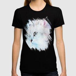 Fluffy starry cat T-shirt