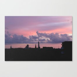 Painted Skies of Malmö Canvas Print