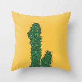 Mexico City (Ciudad de México), Mexico Cactus Travel Poster Throw Pillow