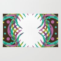 Abstract Spring Bloom Rug