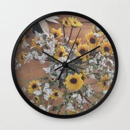 Flowers (yellow/white)  Wall Clock