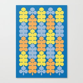 Spring colorful pattern with trees Canvas Print