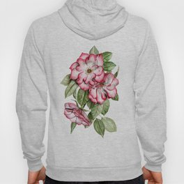 Blooming Pink Garden Roses Hoody