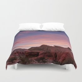 Arch Rock Sunset, Valley of Fire - I Duvet Cover