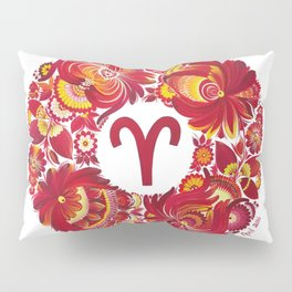 Aries in Petrykivka style (with signature) Pillow Sham