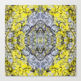 Yellow and Grey Abstract Pattern Canvas Print