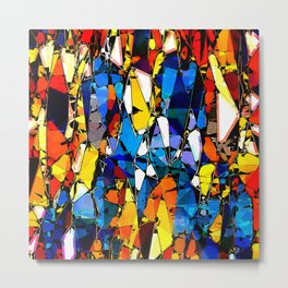 Colorful Abstract Shapes 2 Metal Print