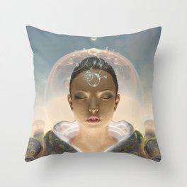 Telepathist Throw Pillow