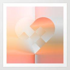 Danish Heart Coral Art Print