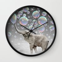 dreams Wall Clocks featuring The Simple Things Are the Most Extraordinary (Elephant-Size Dreams) by soaring anchor designs