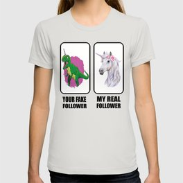 Youtube Influencer Unicorn Dinosaur Rex Motif T-shirt