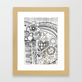 doodles by beccasartsycorner Framed Art Print