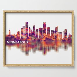 Minneapolis Minnesota Skyline Serving Tray