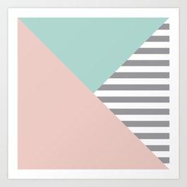 Geometric quartzo Art Print