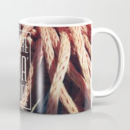 in front of the sea happiness is a simple idea Coffee Mug