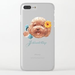 Toy Poodle Clear iPhone Case