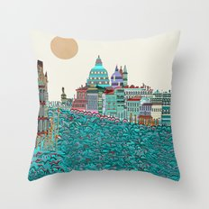 Venice blues  Throw Pillow