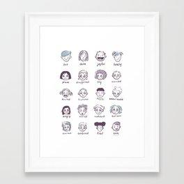 Emotions & Feelings Framed Art Print