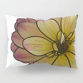Yellow & Pink Dahlia Pillow Sham
