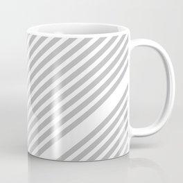 Grey Minimal Stripes Coffee Mug