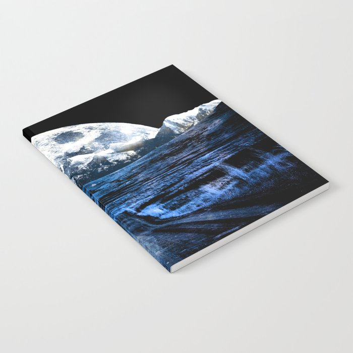 Road to Eternity (blue vintage moon mountain) Notebook