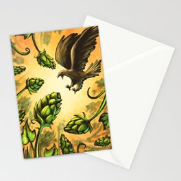 Screaming Eagle and Raging Hops (Warm) Stationery Cards