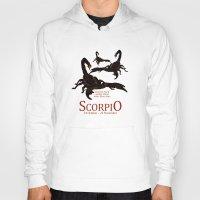 scorpio Hoodies featuring Scorpio by Adamzworld