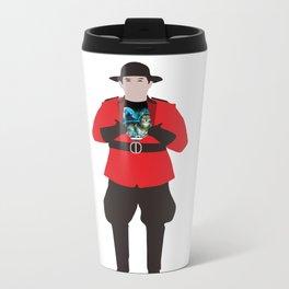 Canadian Spirit Animal Metal Travel Mug