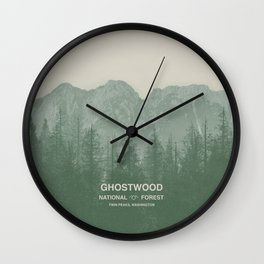 Ghostwood National Forest Twin Peaks Wall Clock